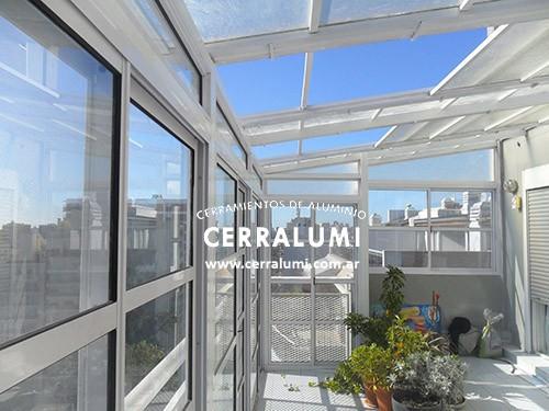 Cerramientos de aluminio de terrazas cerrar ambientes for Cerramiento aluminio terraza