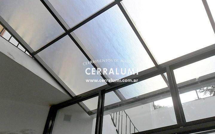 techo corredizo de policarbonato